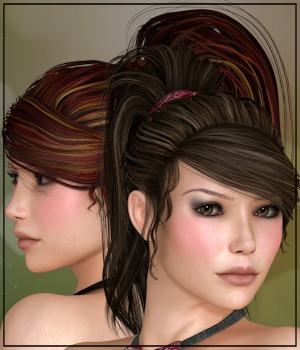 Bottled NJA Ponytail 3D Figure Essentials 3-DArena