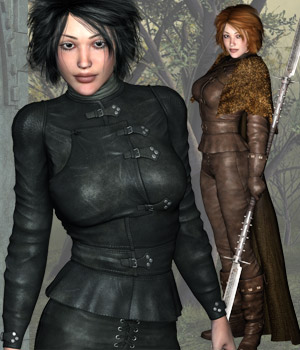 Night Watcher V4 / A4 / Girl4 3D Figure Assets 3D Models RPublishing