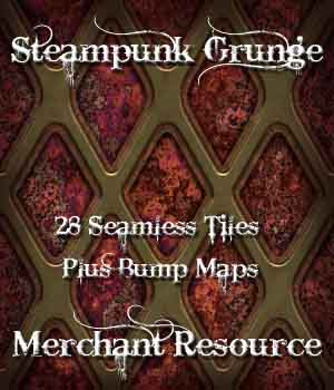 Steampunk Grunge Merchant Resource 2D Graphics Merchant Resources ellearden