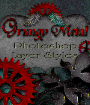Grungy Metal - Photoshop Layer Styles 2D Merchant Resources antje