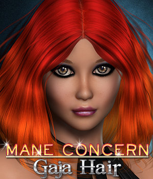 Mane Concern: Gaja Hair 3D Figure Essentials 3DSublimeProductions