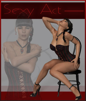 Sexy Act - V4-G2F-V6 Software Poser Software-Smith Micro 3D Figure Essentials ilona