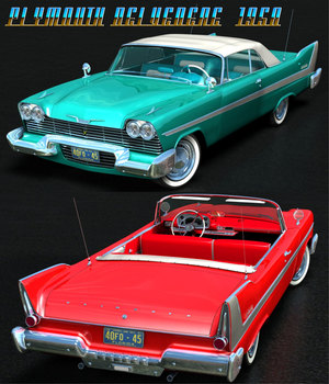 PLYMOUTH BELVEDERE CONVERTIBLE 1958 3D Models 3DClassics