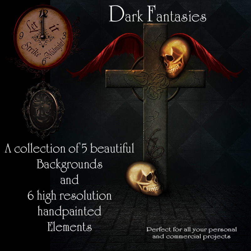 Dark Fantasies - Backgrounds & PNG's