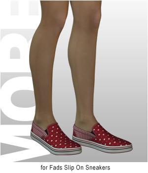 MORE Textures & Styles for Fads Slip On Sneakers 3D Figure Assets motif