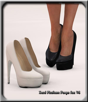 Xasai Platform Pumps for Victoria 4 3D Figure Essentials Xasai