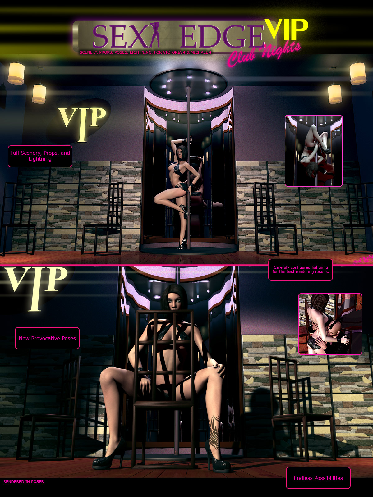 Y3DJLL SexyEdge Club Nights VIP V4/M4