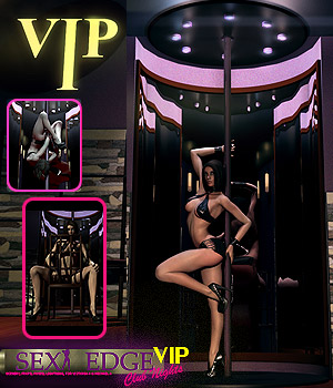 Y3DJLL SexyEdge Club Nights VIP V4/M4 3D Models 3D Figure Essentials Software Yanelis3D