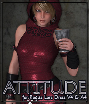 ATTITUDE for Rogue Lore Dress V4 & A4 3D Figure Essentials Anagord