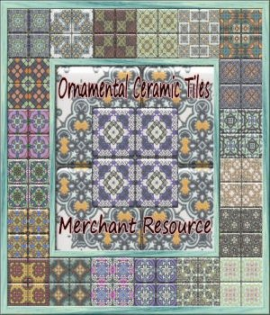 Ornamental Ceramic Tiles Merchant Resource 2D Merchant Resources MysticBlueRaven