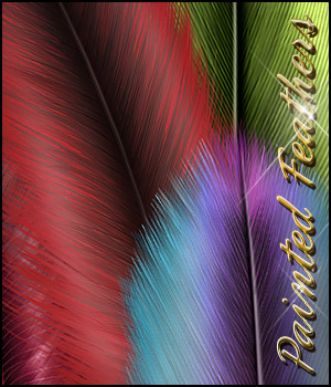 Painted Feathers SV 2D Graphics Sveva