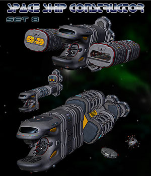 Space Ship Constructor Set 8 3D Models Simon-3D