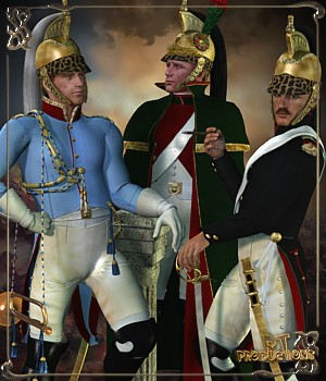 RT-Napoleonic M4-Dragoons - Extended License 3D Models 3D Figure Assets -renapd-