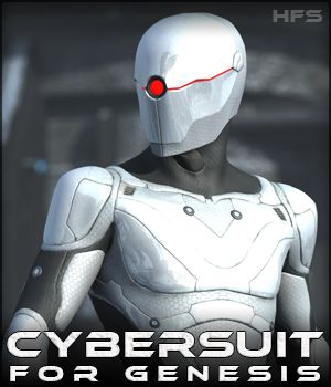 HFS CyberSuit for Genesis - Extended License 3D Figure Assets 3D Models Extended Licenses DarioFish