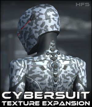 HFS CyberSuit Texture Expansion - Extended License 3D Figure Essentials Gaming DarioFish