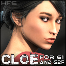 HFS Characters: Chloe for G1 and G2F - Extended License 3D Figure Essentials DarioFish