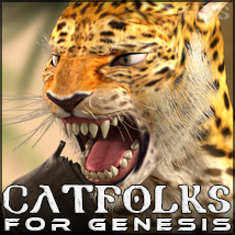HFS Races: Catfolks - Extended License 3D Figure Essentials 3D Models DarioFish