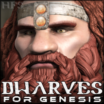 HFS Races: Dwarves - Extended License Gaming 3D Figure Essentials DarioFish