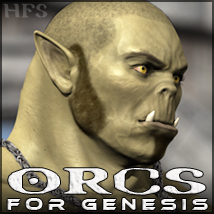 HFS Races: Orcs - Extended License 3D Figure Essentials 3D Models Gaming DarioFish