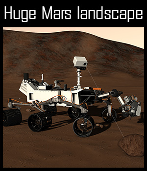 Mars rover Curiosity - Extended License 3D Models 2nd_World