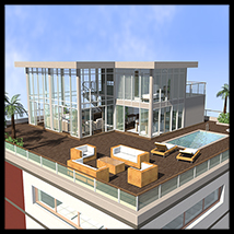 Modern Villa, Penthouse - Extended License 3D Models 2nd_World