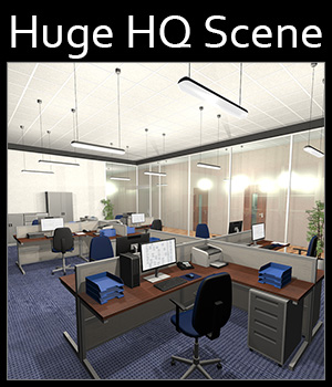 Office floor - Extended License 3D Models 2nd_World