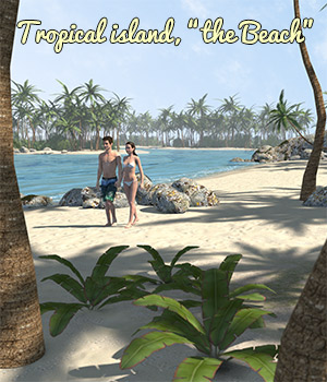 Tropical island, the Beach - Extended License 3D Models 2nd_World