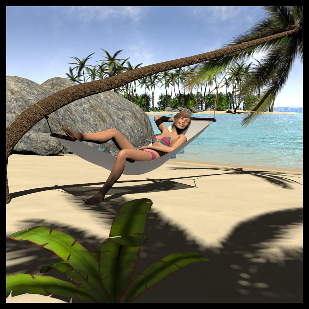 Island Beach Scenes: Extended License 3D Models