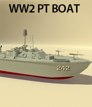 WW2 PT Boat - Extended License 3D Models Extended Licenses RPublishing