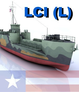 LCI (L) Version 2, Landing Craft Infantry 3D Models AliceFromLake