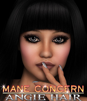 Mane Concern: Angie Hair 3D Figure Essentials 3DSublimeProductions