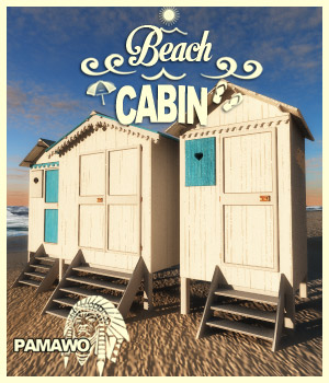 Beach_Cabin 3D Figure Essentials 3D Models pamawo