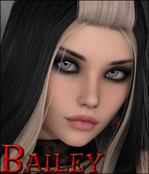Bailey - Character and Hair 3D Figure Assets Silver