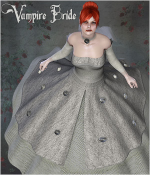 Vampire Bride - V4 Outfit 3D Figure Essentials P3D-Art
