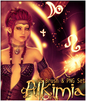Alkimia - PS Brushes and PNG set 2D patslash