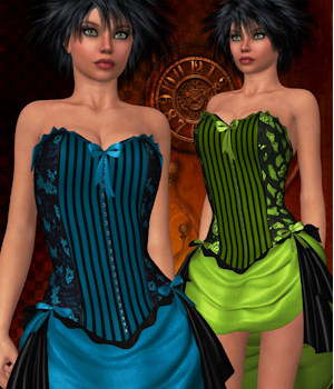 Hallows Eve for Bustier Dress 3D Figure Essentials ANG3L_R3D