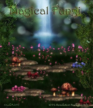 Magical Fungi 2D Graphics ornylia