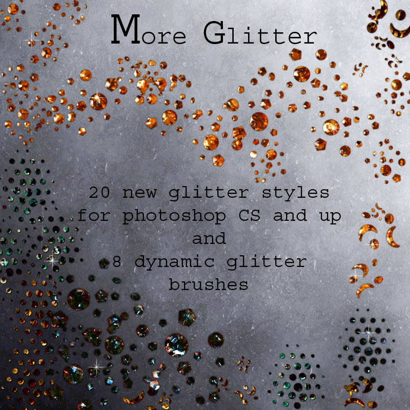 More Glitter Styles & Brushes by antje