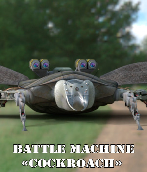 "AJ Battle Machine ""Cockroach"" 3D Models -AppleJack-"