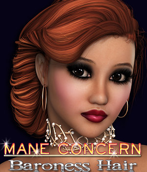 Mane Concern: Baroness Hair 3D Figure Essentials 3DSublimeProductions