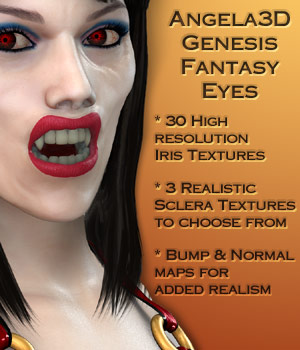 Angela3D Genesis Fantasy Eyes 3D Figure Assets Angela3D