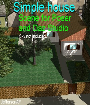 Simple house 3D Models JeffersonAF