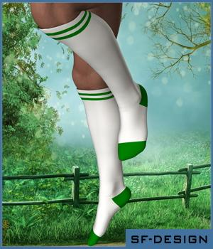 Sport and Casual Socks Pack for Genesis 2 Male - Extended License 3D Figure Assets SF-Design
