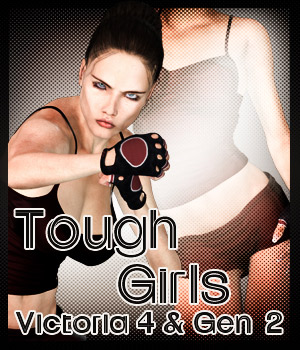 Tough Girls For G2F & V4 3D Figure Assets 2D Graphics -dragonfly3d-