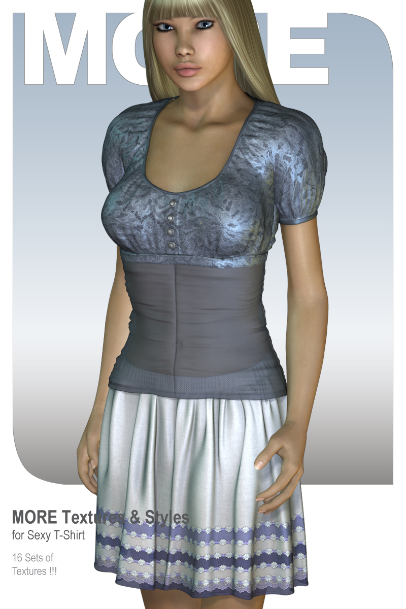 MORE Textures & Styles for Sexy T-Shirt