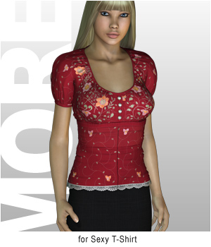 MORE Textures & Styles for Sexy T-Shirt 3D Figure Essentials motif