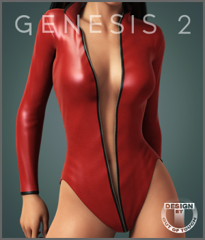 Zipped Leather Suit for Genesis 2 Female(s) 3D Figure Essentials outoftouch