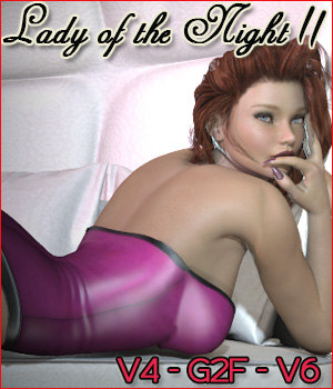 Z Lady of the night 2 - V4-G2F-V6 3D Figure Assets 3D Models Zeddicuss