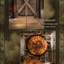 World of Steam - Steampunk Backgrounds image 3