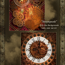 World of Steam - Steampunk Backgrounds image 4